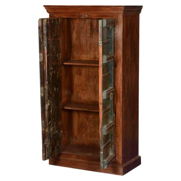 Rustic Gothic Mango & Reclaimed Wood Wardrobe Armoire Cabinet