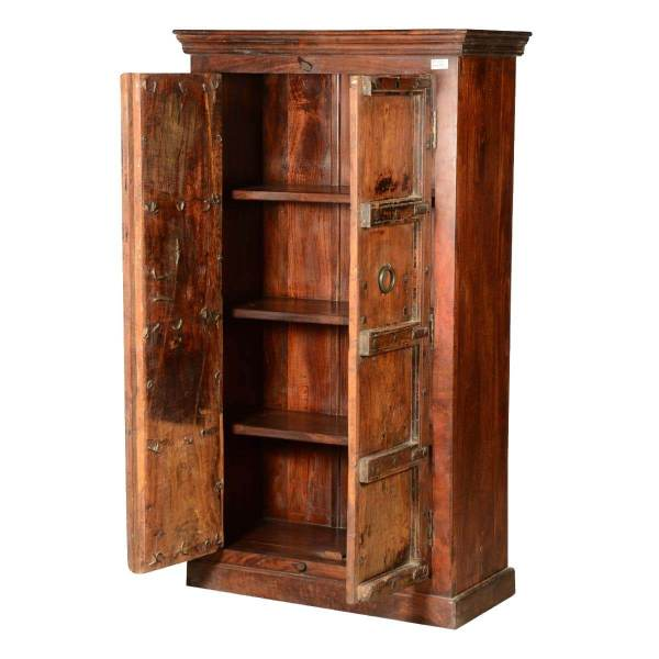 Rustic Gothic Traditions Reclaimed Wood Wardrobe Armoire