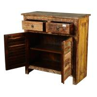 Haledon Distressed Reclaimed Wood 2 Drawer Accent Storage ...
