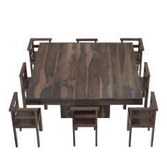8 Chair Square Dining Table Computer Carpet Modern Rustic Solid Wood 64 Quot Pedestal