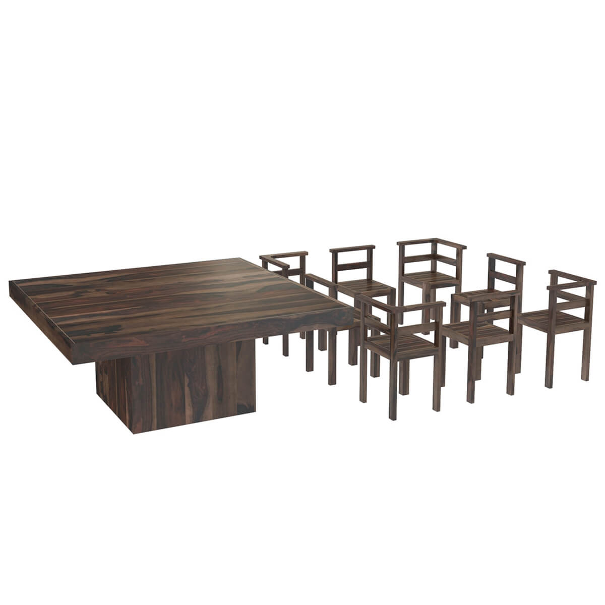 Square Pedestal Dining Table 8
