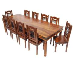 Rustic Dining Room Chairs Antique Oak Desk Chair Wheels Solid Wood Large Table Buffet