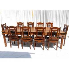 Rustic Dining Room Chairs Kitten Wheelchair Solid Wood Large Table Chair Buffet