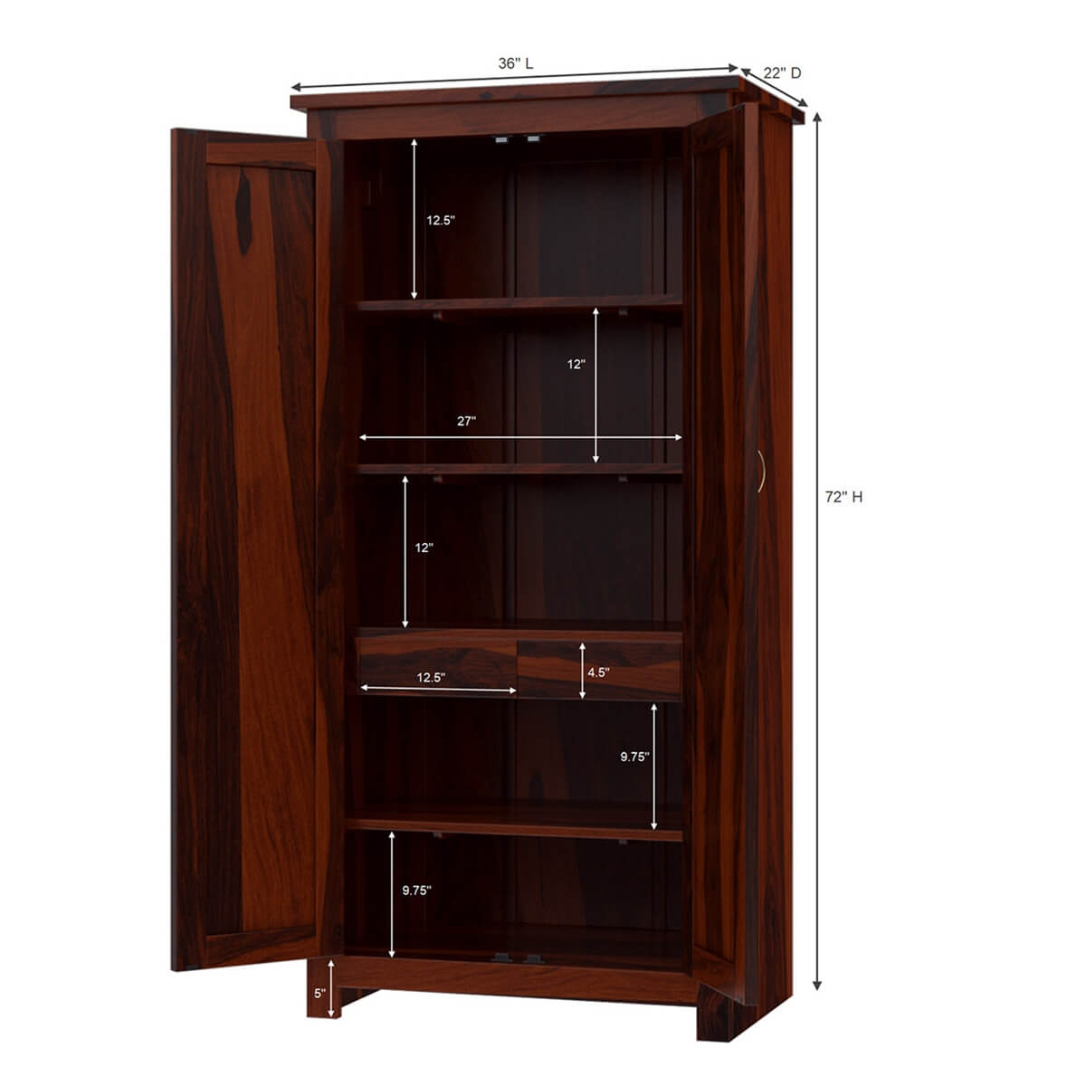 Solid Wood Wardrobe Closet