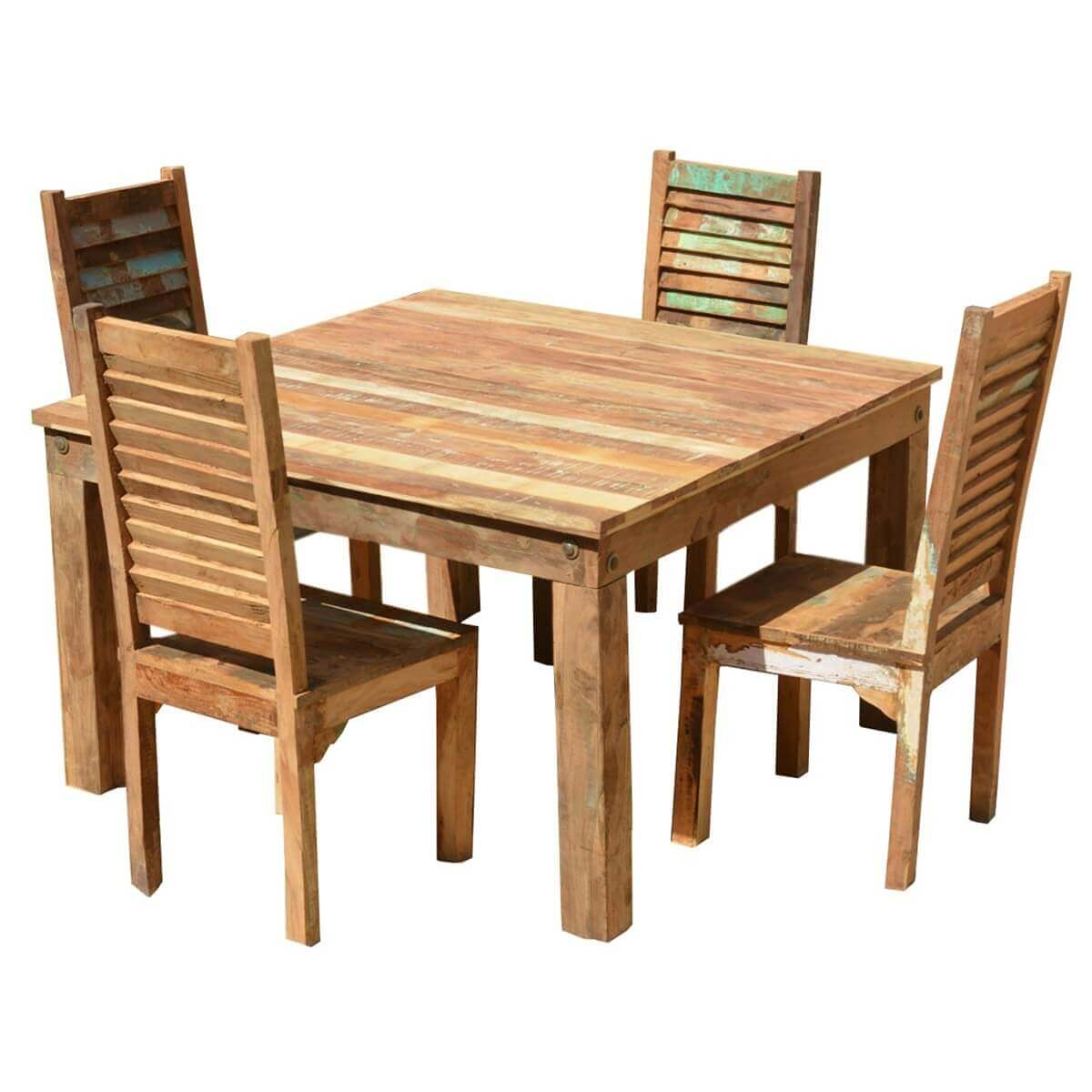 barnwood dining room chairs and board swivel chair ohio reclaimed wood furniture table shutter back