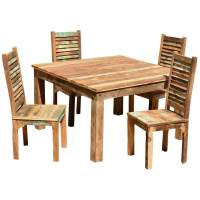 Ohio Reclaimed Wood Furniture Dining Table & Shutter Back ...