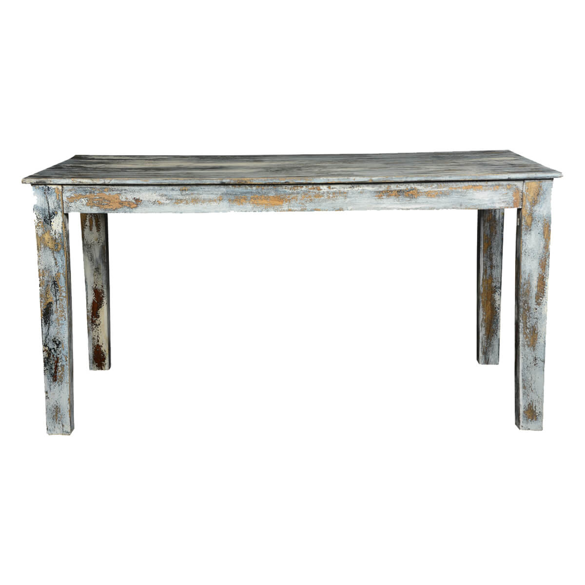 grey wood kitchen table bench seating speckled distressed dining