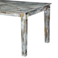 Grey Wood Kitchen Table Pantrys Speckled Distressed Dining