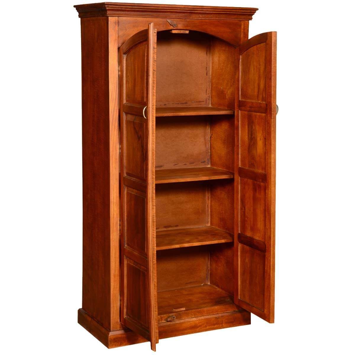 Tioga Solid Wood 2 Door Tall Storage Cabinet Armoire