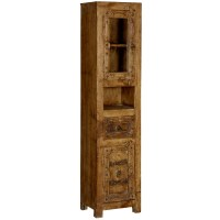 Passage from India Reclaimed Wood Hand Carved Skinny