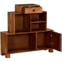 Bayonne Solid Wood 6 Compartment 3 Tier Rustic Storage Cabinet