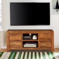 Pioneer Modern Rustic Solid Wood TV Console Media Island ...