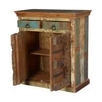 Maris Rustic Reclaimed Wood Gothic Gate 2 Drawer Storage ...