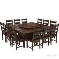 Modern Pioneer Solid Wood Lazy Susan Pedestal Dining Table ...