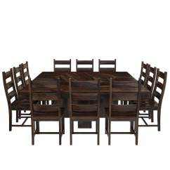 Solid Wood Dining Room Table And Chairs Toddler Lounge Chair With Straps Modern Pioneer Lazy Susan Pedestal