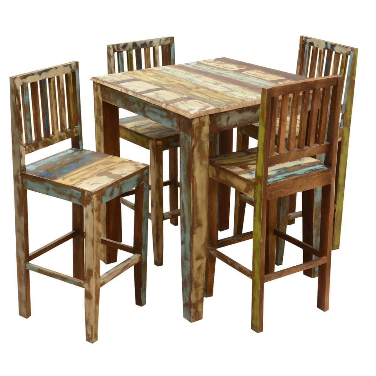 high bar table and chair set cane hanging new zealand appalachian rustic reclaimed wood