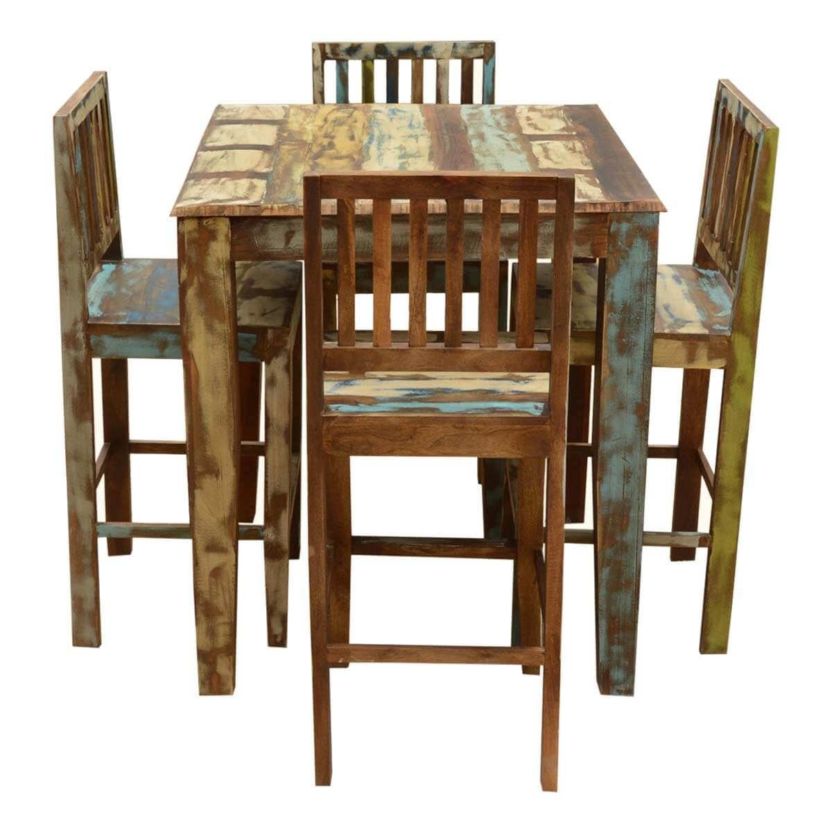 high bar table and chair set covers for wedding appalachian rustic reclaimed wood