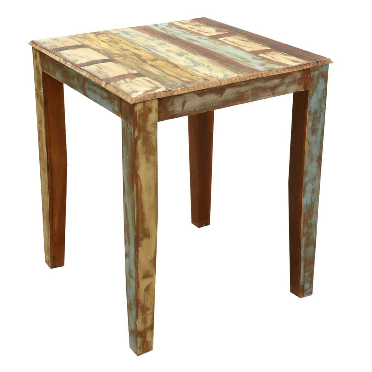 high bar table and chair set mexican painted chairs appalachian rustic reclaimed wood