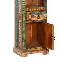 Gothic Rustic Rainbow Reclaimed Wood 74 Curio Cabinet