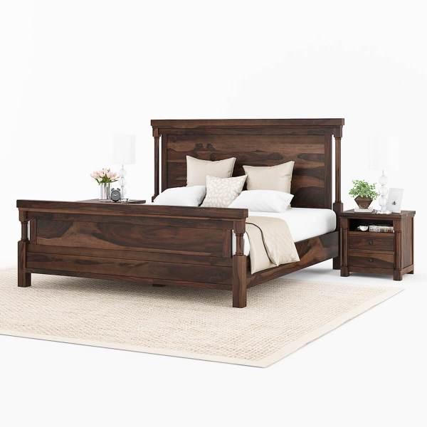 Solid Wood King Size Platform Beds