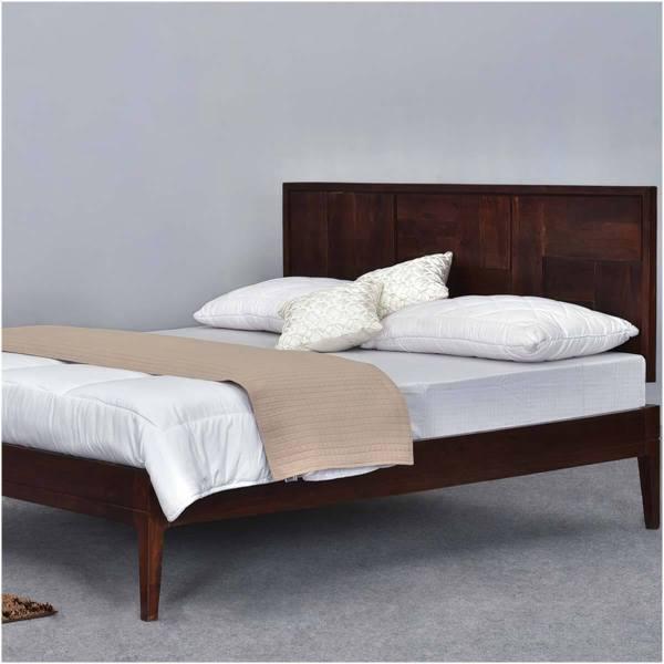Modern Pioneer Solid Wood California King Size Platform Bed Frame