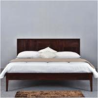 Modern Pioneer Solid Wood Platform Bed Frame w Headboard