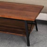 Industrial Simplicity Reclaimed Wood & Iron 2-Tier Coffee ...