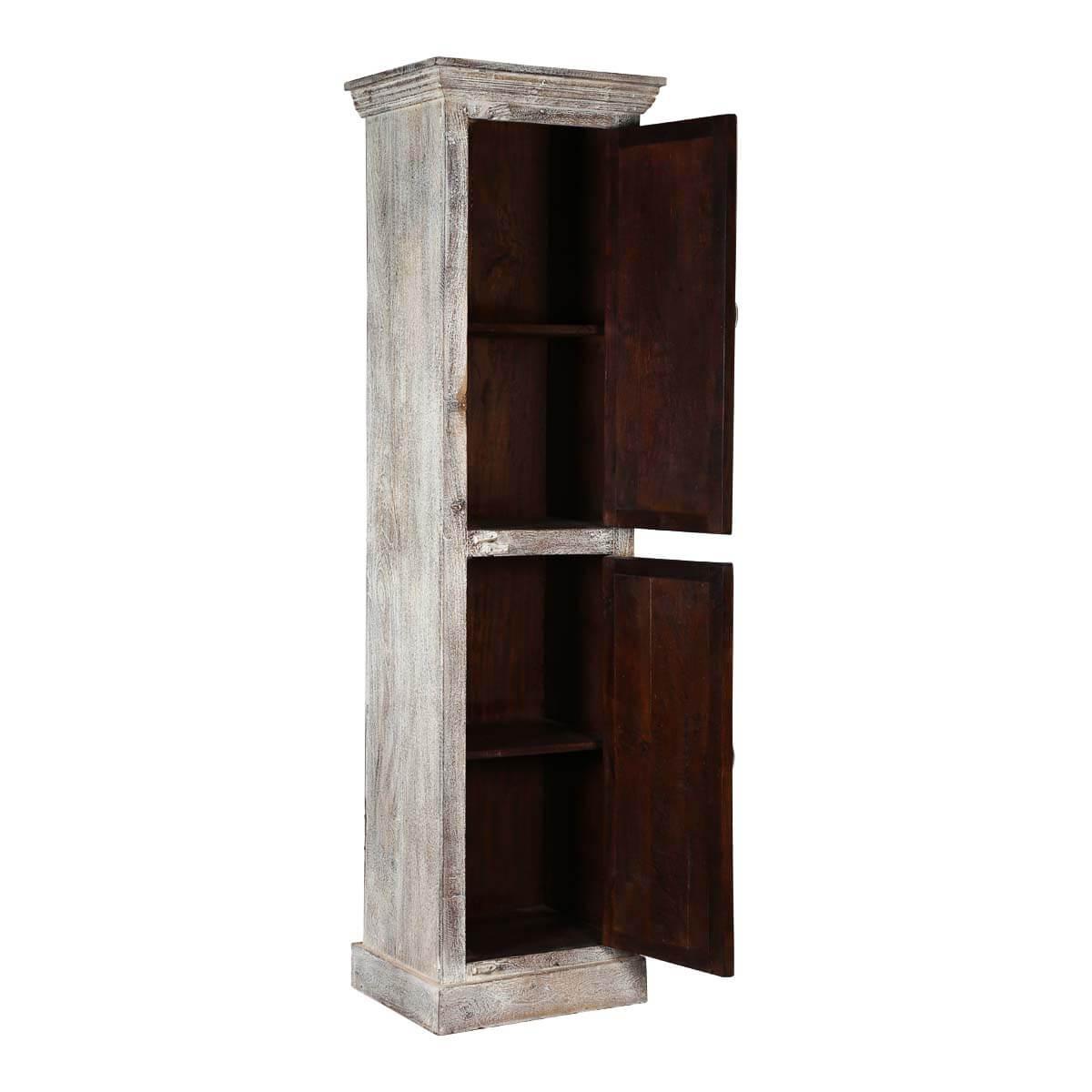 Barneston Distressed Reclaimed Wood 2 Door Tall Accent Cabinet