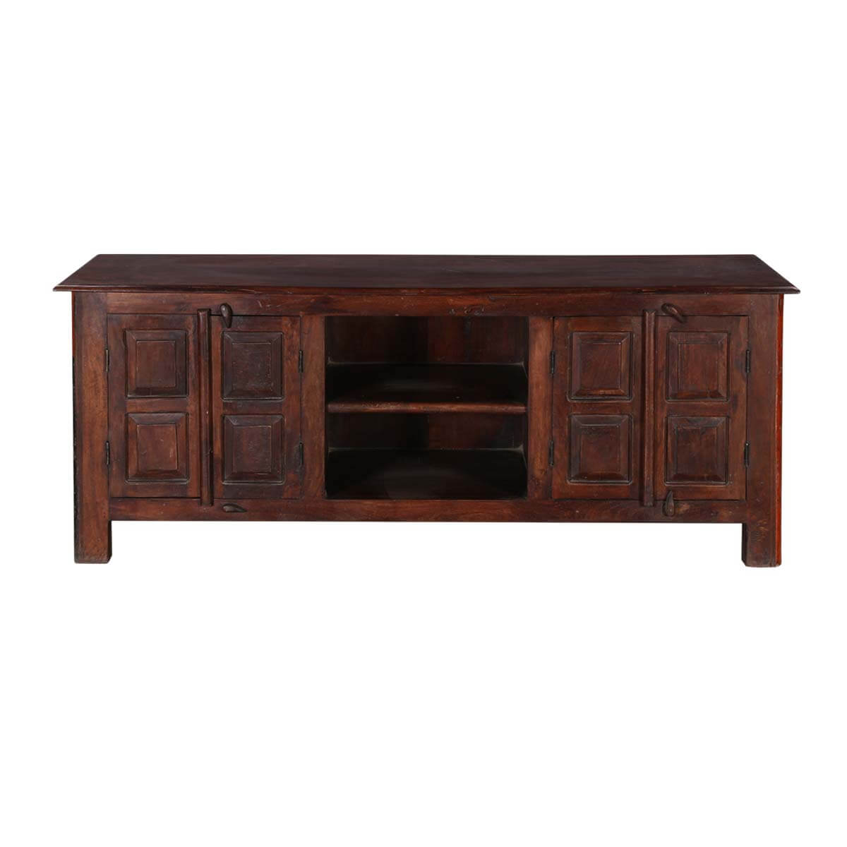 Rustic Shaker Mango  Reclaimed Wood TV Console Media Cabinet