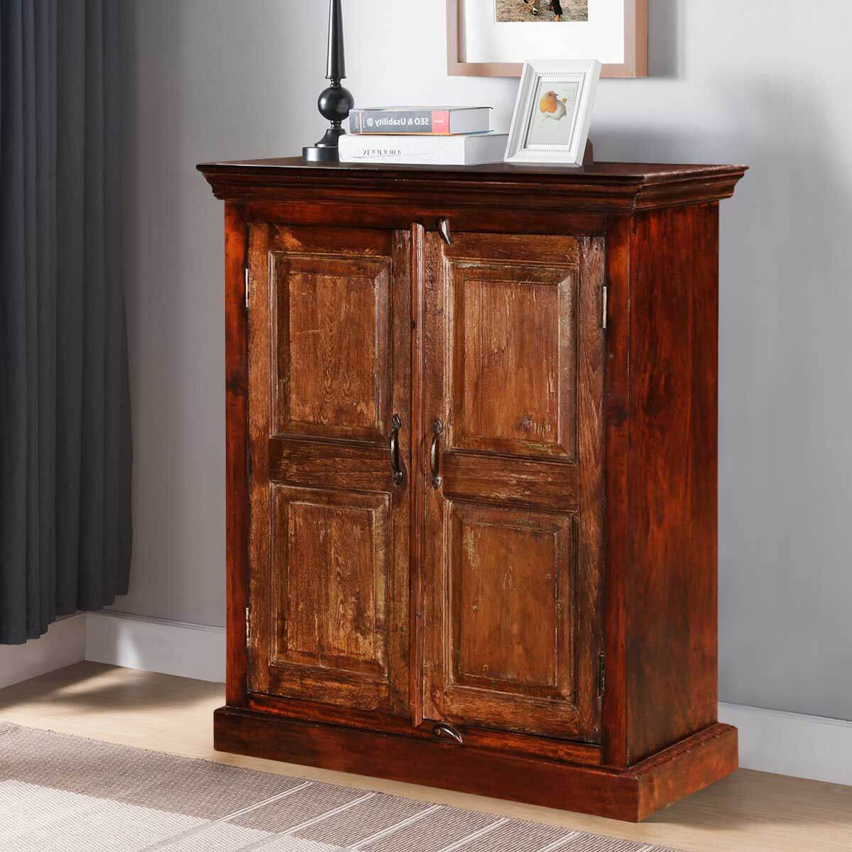Shaker Rustic Mango & Reclaimed Wood Freestanding Accent