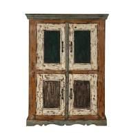 Lena Distressed Reclaimed Wood Handcrafted Double Door ...