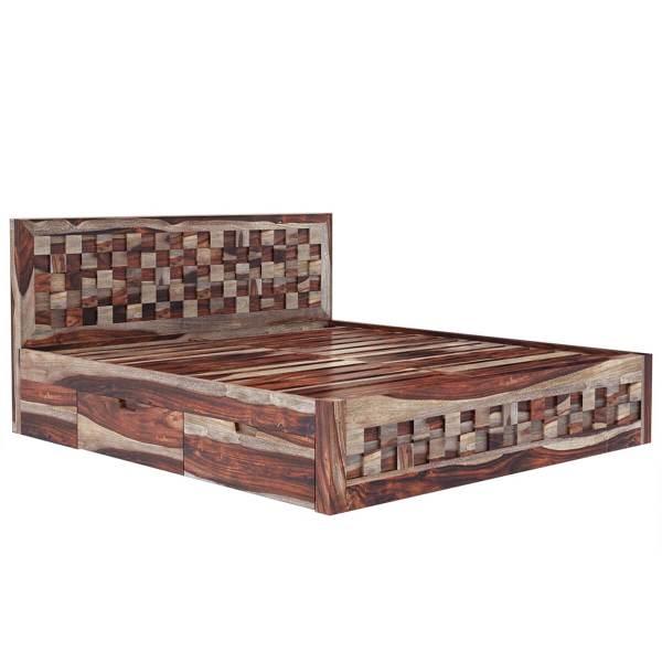 Solid Wood Queen Platform Bed