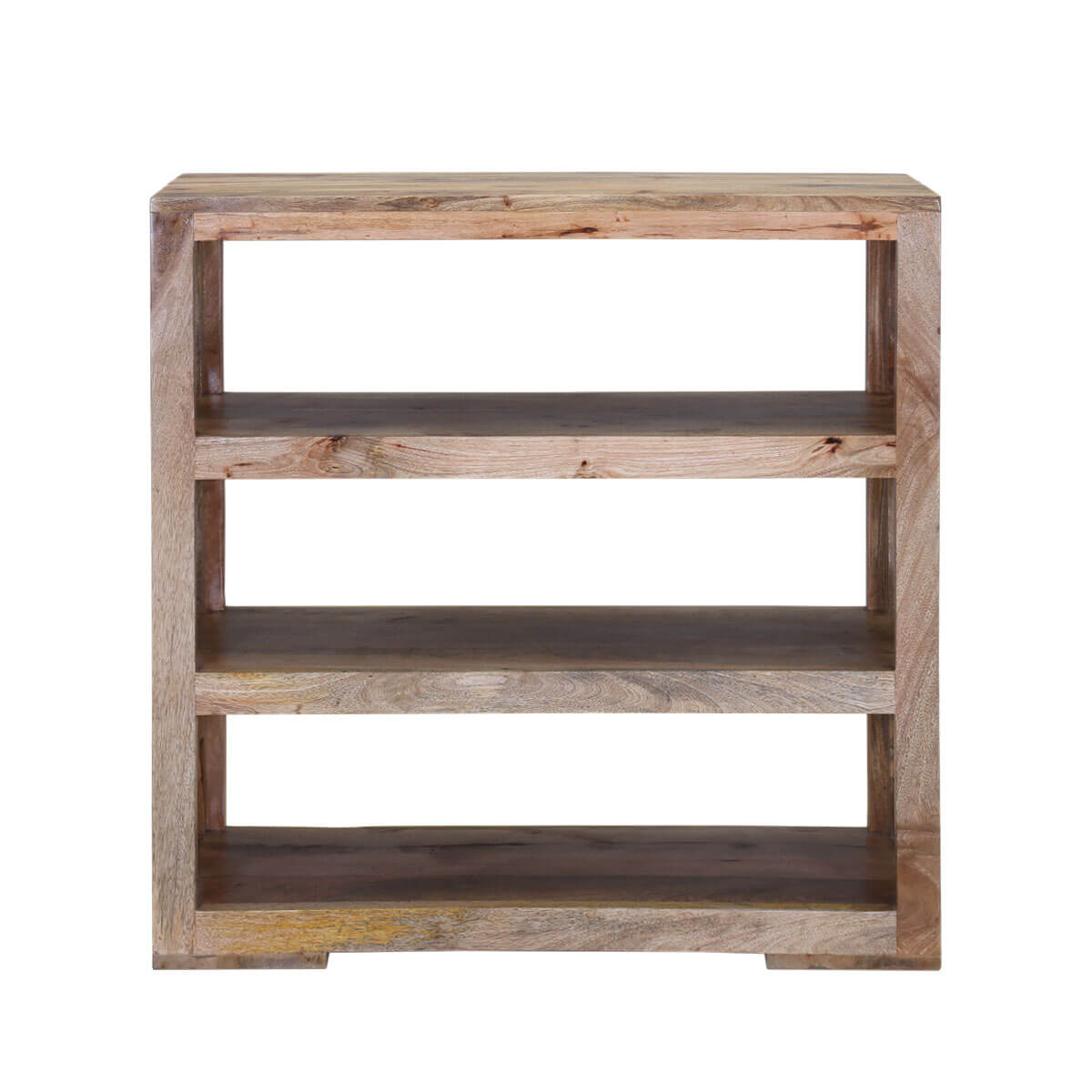 Modern Ranch Mango Wood 36 Open Back Rustic Bookcase
