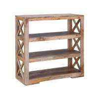 Modern Ranch Mango Wood 36 Open Back Rustic Bookcase