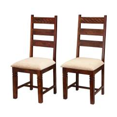 Unfinished Ladder Back Chairs Revolving Chair Stand Price Handcrafted Solid Wood 2pc Upholstered
