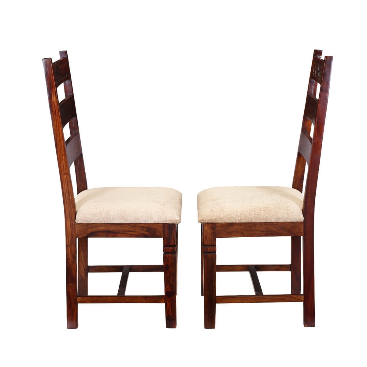 unfinished ladder back chairs teen girl desk chair handcrafted solid wood 2pc upholstered