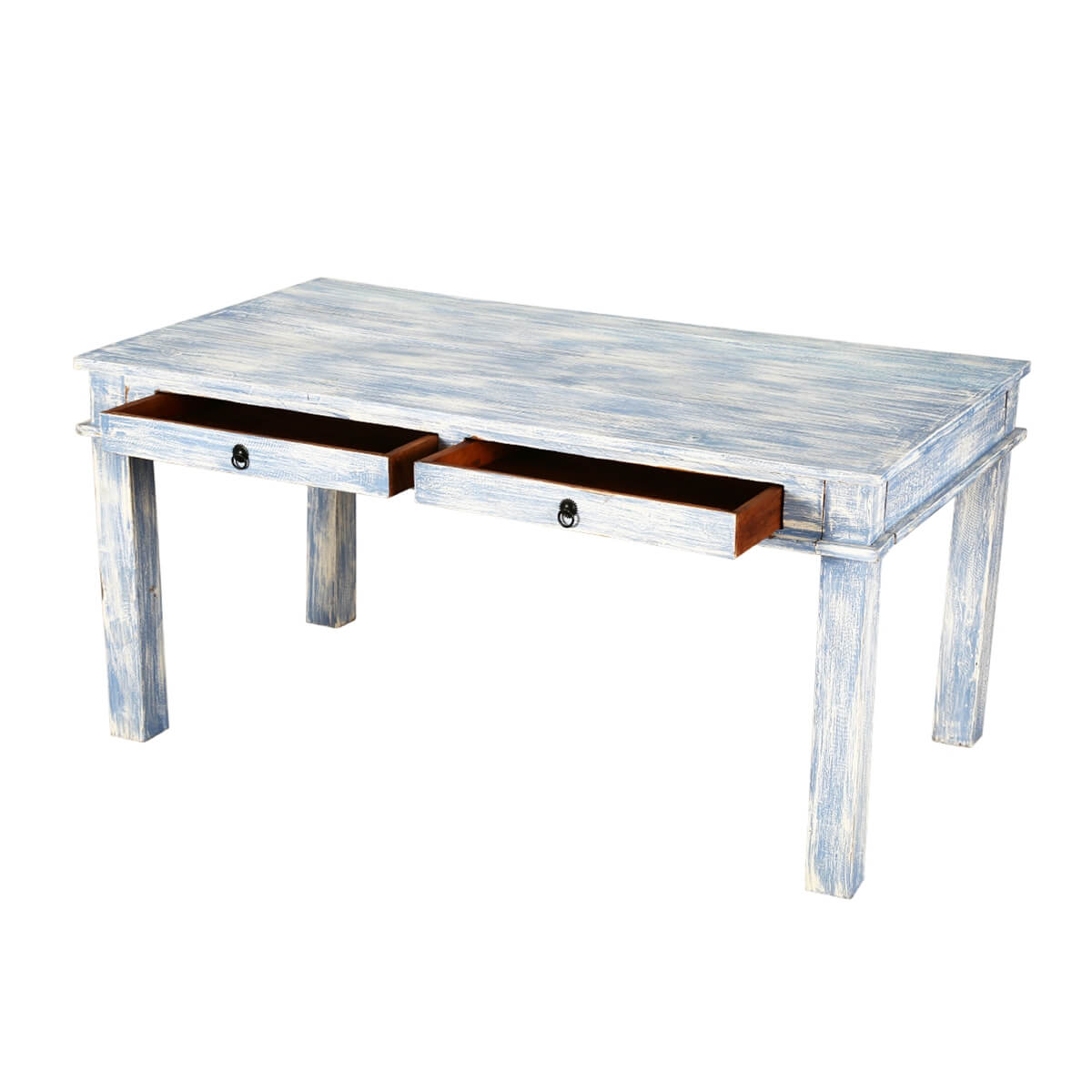 distressed kitchen table ikea hardware blue reclaimed wood dining