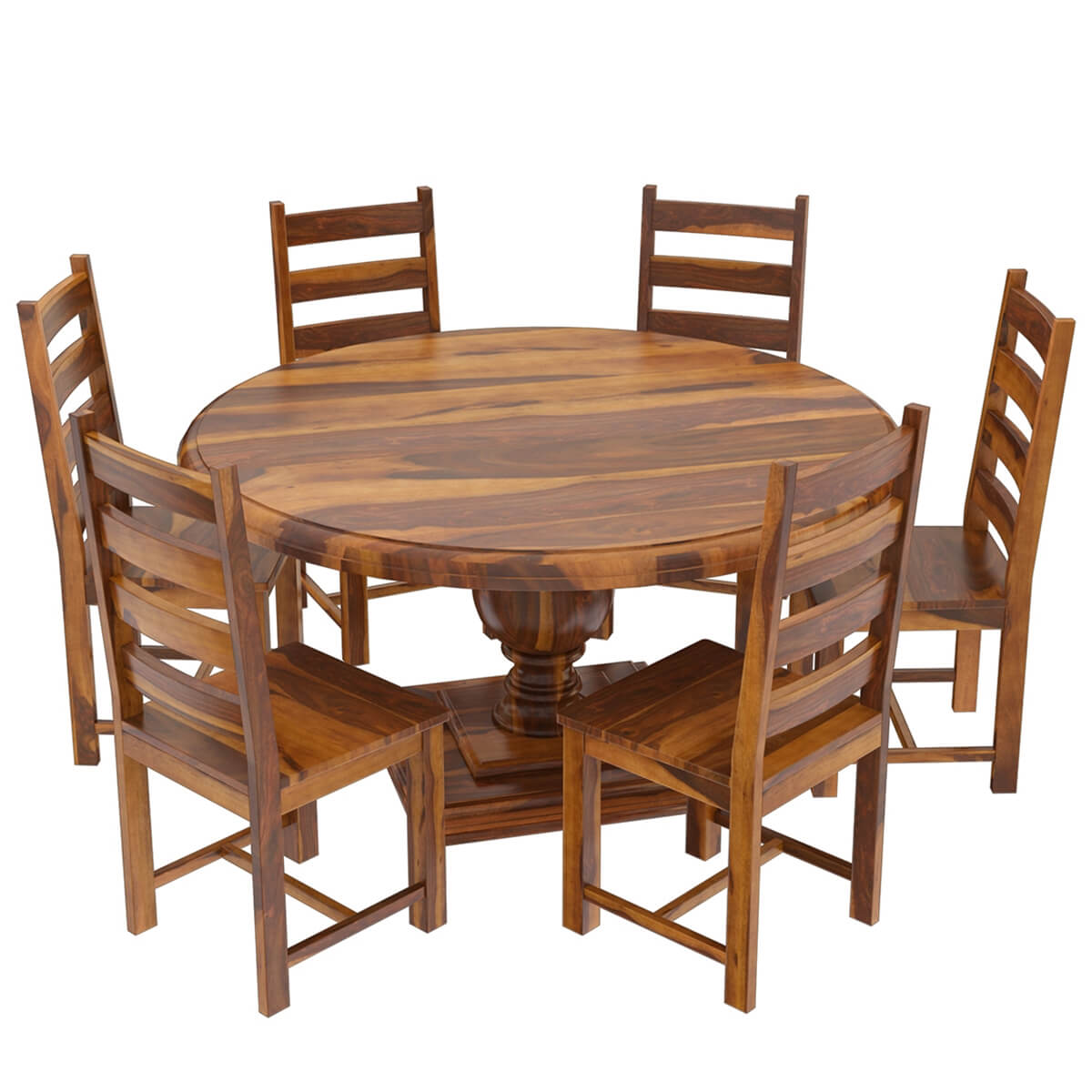 round dining table for 6 chairs xl desk chair cloverdale solid wood with set