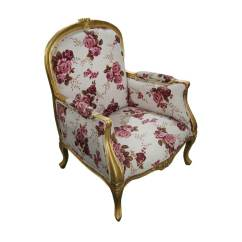 Floral Arm Chair Mid Century Style Chairs Vancouver Traditional Solid Wood Carnation Fabric