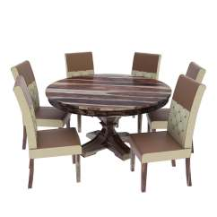Round Table 6 Chairs Dimensions Grey Chair Sashes Hosford Handcrafted Solid Wood Dining And