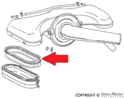 Porsche Parts Air Filter Cover Gasket, 911 (65-72)