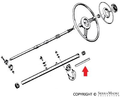 Porsche Parts Door & Ignition Key Blank, 356A/356B (K100)