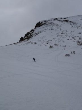 Decent skiing on the NE aspect