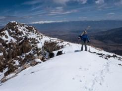 Recent snow on the ridge to Kindergarten Chute