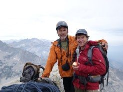 Summit photo. Ney and Betsy crushed the route in 5:15 camp to camp, beating the hailstorm by an hour.