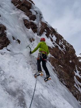 Last gasps for water ice in Lundy Canyon 4/11
