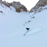Slaying 6000' feet of powder top to bottom on 1/16