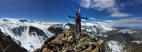 Stacey on top of Hemlock Peak