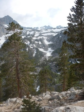 Snow patches to the glacier in July