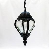 8027 Classic Outdoor Pendant Ceiling Gate Lamp (Black)